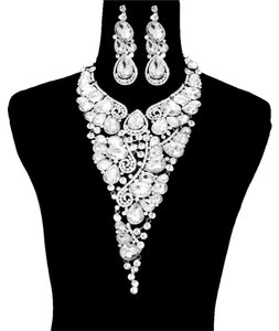 Necklace And Earrings Fashion Statement Set