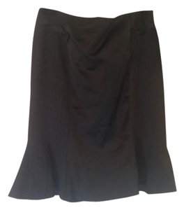 Nanette Lepore Fluted Flared Trumpet Tulip Bow Skirt Black