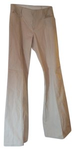 Nanette Lepore Sailor Nautical Flare Twill Khaki/Chino Pants Beige