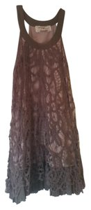 Flair Collection short dress Brown 90s Crochet Vintage Halter on Tradesy