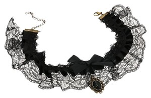 Black Lace Choker Victorian Necklace