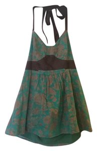 Anthropologie Retro Fei Anthro Versatile Green Halter Top