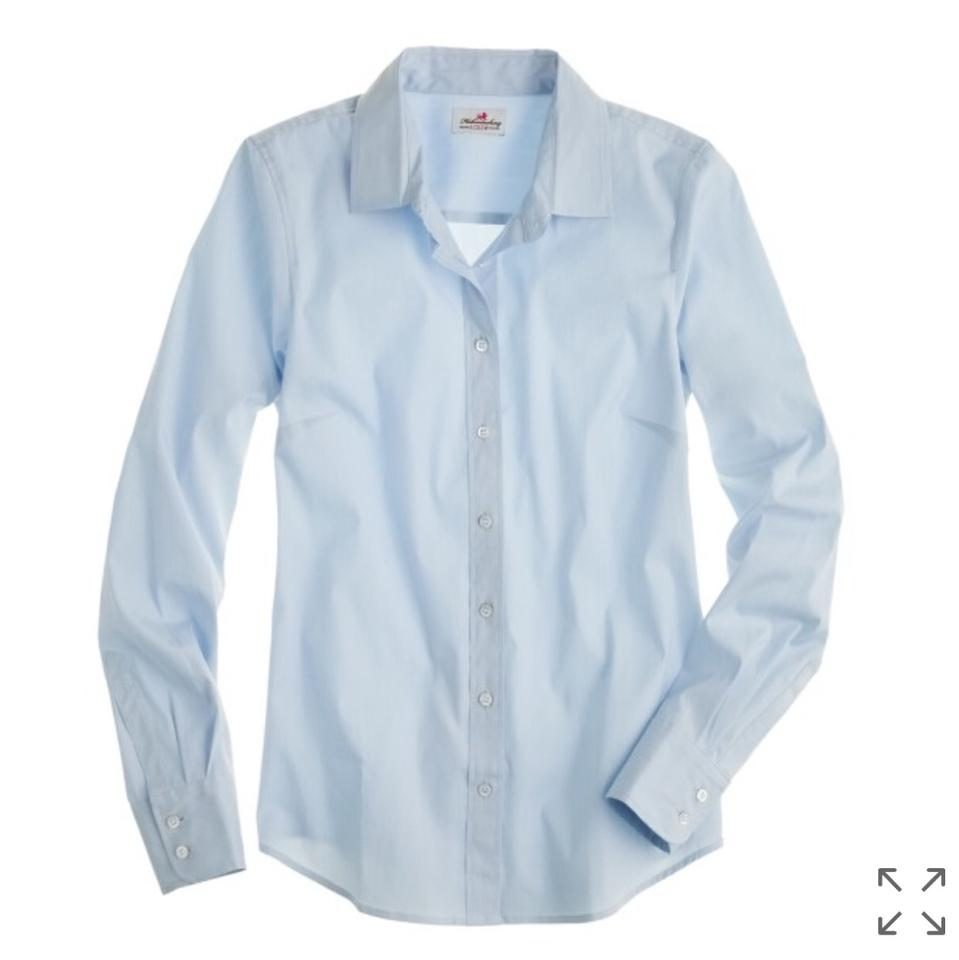 J crew light blue stretch perfect 54798 button down for Light blue button down shirt