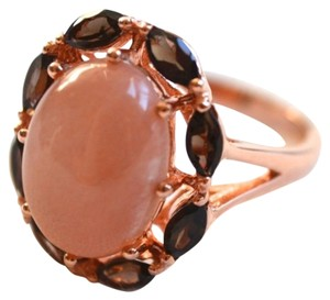 Savvy Cie NWT 14K Rose Gold Plated Smokey & Rose Quartz Ring