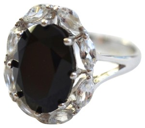Savvy Cie NWT White Topaz & Black Onyx Empire Ring Sterling