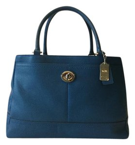 Coach Park Leather Carryall Tote in Blue