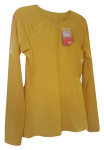 Roxy Roxy Athletix UV Protection Long Sleeve Shirt Rash Guard Yellow