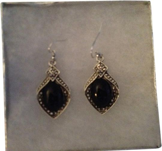 Penny's Black Onyx And Silver Filled Dangle Earrings. Approx. 1.5 inch dangle. These are glamorous on the ears!