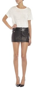 Beau Souci Leather Mini New Mini Skirt Black
