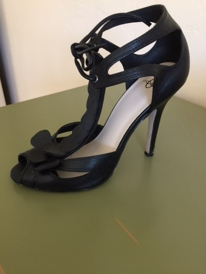 Joey O black leather Sandals
