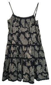 Juicy Couture short dress Navy Voile Paisley Empire Waist on Tradesy