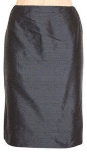 Oscar by Oscar de la Renta Pencil Silk Skirt BLACK