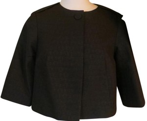 Mexx Bolero Jacket Coat Black with emebedded print Blazer