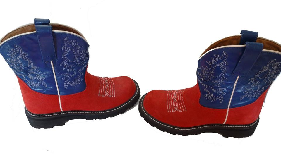 Ariat Best Offer/western/ Red/blue Boots | Boots & Booties on Sale
