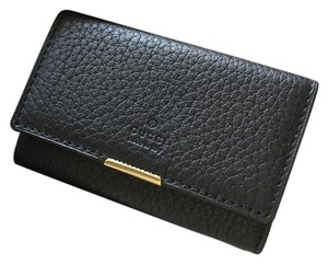 Gucci New Gucci Black Trifold Key Holder 108713 C6H0T 1000
