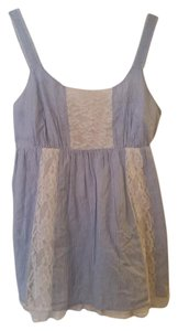 Willow & Clay Lace Stripe Anthropologie Top Blue and White