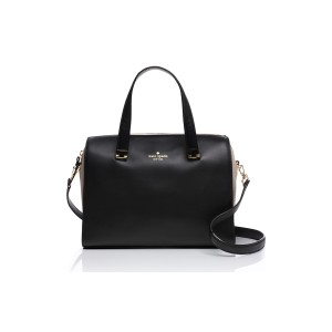 Kate Spade Wkru3410 Satchel in Black/Beige