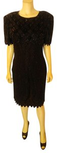 Laurence Kazar Beaded Size Medium P2228 Dress