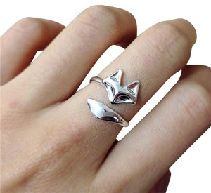 Other Cute Silver Adjustable Fox Ring