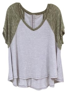Free People T Shirt Purple, Green