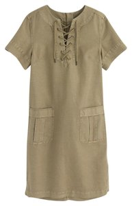 J.Crew short dress Cargo Lace-up Short Sleeve on Tradesy