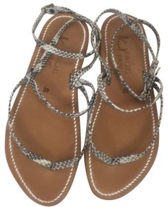 Jacques Black & gray cream Sandals