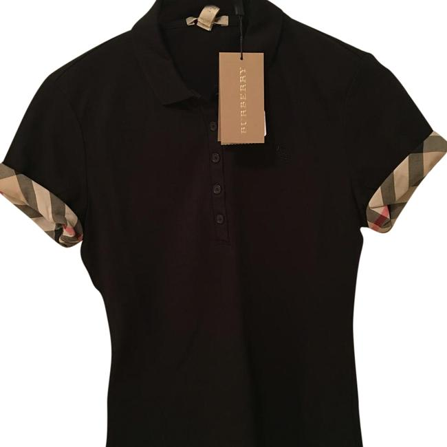 Burberry t shirt black tradesy for Burberry t shirts for sale