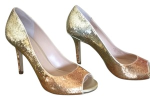 Enzo Angiolini silver,gold & light copper sequins Formal