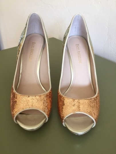Enzo Angiolini silver,gold & light copper sequins Formal Image 1