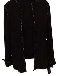 Philippe Adec Black with white stitching Jacket
