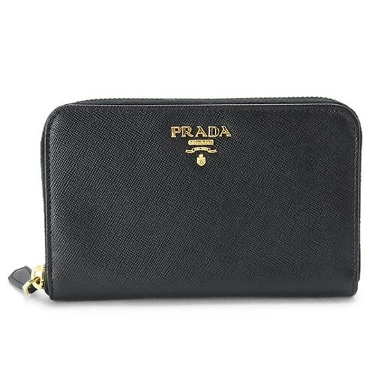 9b748d86c66d Prada Black Zip Around Wallet | Stanford Center for Opportunity ...