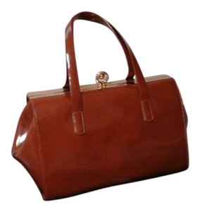 Alberta Di Canio Satchel in Saddle brown