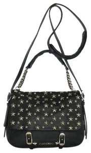 Jimmy Choo Front Flap Star Studded Leather Cross Body Bag