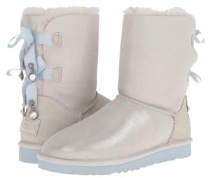 UGG Australia White Metallic with Blue Boots