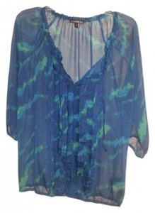 Express Top blue and green