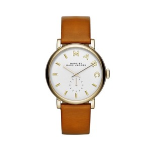 Marc by Marc Jacobs Marc by Marc Jacobs Women's Baker Tan Leather Strap Watch 36mm MBM1316