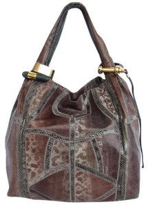 Jimmy Choo Snakeskin Patchwork Hobo Bag