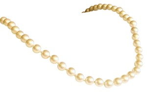 MONET Vintage Monet Faux Pearl Strand Necklace Gold Clasp