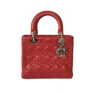 Dior Medium Lady Tote in Red
