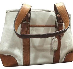 Coach Satchel in cream