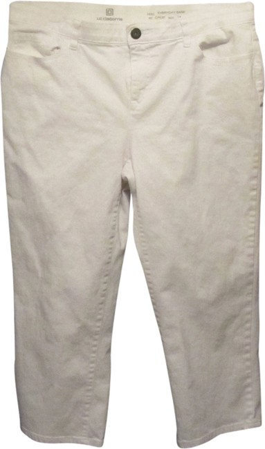 Preload https://img-static.tradesy.com/item/1945346/liz-claiborne-white-everyday-easy-crop-capris-size-14-l-34-0-0-650-650.jpg