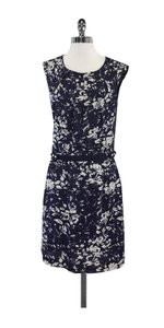Tory Burch short dress Blue & White Print Silk Sleeveless on Tradesy