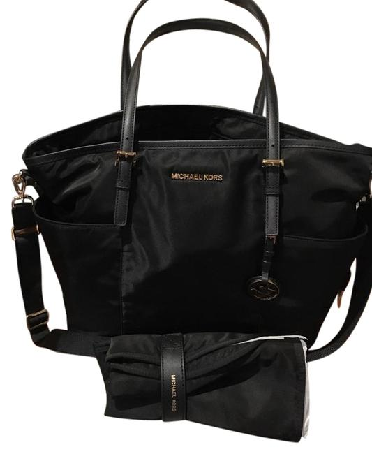 Item - / Black Nylon Diaper Bag