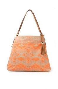 Stella & Dot Tote in aztec Coral