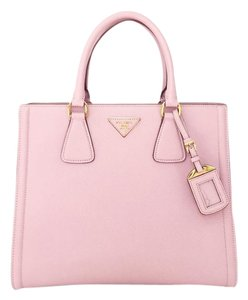Prada Saffiano Leather Tote in Pink