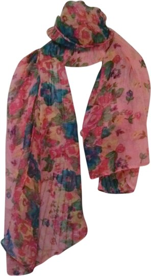 Other Pink/Coral Floral Scarf/Wrap/Cover