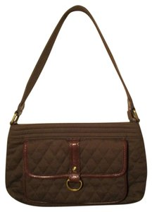 Vera Bradley Cotton Leather Trim Quilted Shoulder Bag