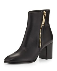Burberry Leather Bootie Ankle Black Boots