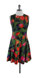 Chloé short dress Green Floral Pleated Sleeveless on Tradesy