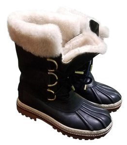 Tory Burch Navy Blue and forest green Boots